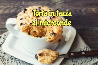 Torta in tazza senza glutine al microonde