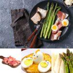 Uova e prosciutto con gli asparagi – piatto unico