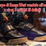 Scarpe di Kanye West vendute all'asta per quasi 2 milioni dollari