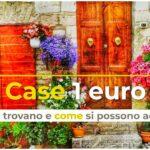 Dove comprare casa a 1 euro in Italia?